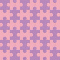 Seamless Puzzle - Pink Royalty Free Stock Photo