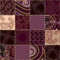 Seamless quilt pattern Stock Photos