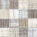 Seamless quilted pattern with grunge striped and checkered square elements Royalty Free Stock Photo