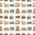 Seamless radio pattern Royalty Free Stock Photo
