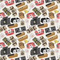 Seamless radio pattern Stock Image