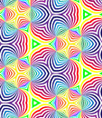 Seamless Rainbow Colored Spirals Pattern on White. Geometric Abstract Background. Royalty Free Stock Photo
