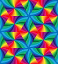 Seamless Rainbow Colored Wavy Triangles Pattern. Geometric Abstract Background.