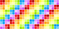 Seamless rainbow mosaic tiles Stock Image