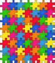 Seamless Rainbow Puzzle Stock Photos