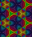 Seamless Rainbow Spirals. Geometric Pattern. Suitable for textile, fabric and packaging Royalty Free Stock Photo