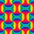 Seamless Rainbow Spirals Pattern.  Geometric Abstract Background. Suitable for textile, fabric and packaging Royalty Free Stock Photo