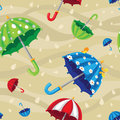 Seamless rainbow umbrellas illustration of a Royalty Free Stock Photos