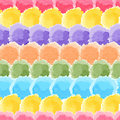 Seamless rainbow watercolor background simple with dots Stock Images