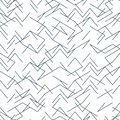 Seamless random, edgy, irregular line black and white pattern. EPS 10