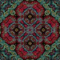 Seamless raster pattern in oriental style Flower psychedelic mosaic Pattern for wallpaper, backgrounds, decor for tapestries