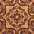 Seamless raster pattern in oriental style psychedelic mosaic Pattern for wallpaper, backgrounds, decor for tapestries