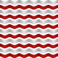 Seamless realistic colorful wave with shadow pattern. Lines. Vector illustration Royalty Free Stock Photo
