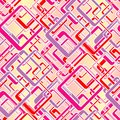 Seamless rectangle pattern with rounded rectangles on pink Royalty Free Stock Image