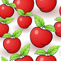 Seamless Red Apple Pattern Royalty Free Stock Photo