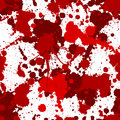 Seamless red bloody splats pattern ink color Stock Photography