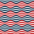 Seamless red blue stripes vector pattern of Royalty Free Stock Images