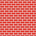 Seamless red brick wall, white bead. Continuous replication of the texture pattern. Vector illustration. Royalty Free Stock Photo