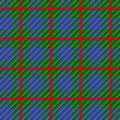 Seamless red checkered pattern tartan plaid fabric texture Royalty Free Stock Images