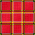 Seamless red checkered pattern tartan plaid fabric texture Stock Images
