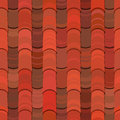 Seamless red clay roof tiles Royalty Free Stock Images