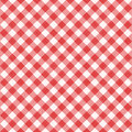 Seamless red diagonal gingham pattern, or fabric cloth Royalty Free Stock Photo