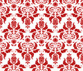 Seamless red floral background Stock Image