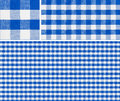 Seamless red picnic table cloth pattern x with samples good for blue checkered tablecloth creation of any size Royalty Free Stock Images