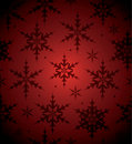 Seamless Red Snowflake Background Royalty Free Stock Images