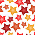 Seamless red star pattern Royalty Free Stock Image