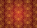 Seamless red vintage wallpaper Royalty Free Stock Photo