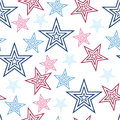 Seamless Red White and Blue Stars Background Abstract Pattern 1 Royalty Free Stock Photo