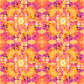 Seamless regular circles pattern yellow orange white pink violet purple overlaying