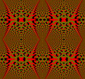 Seamless regular ellipses pattern red olive green and black dimensional