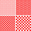 Seamless repeat pattern - set Royalty Free Stock Photos
