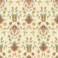 Seamless repeatable vintage floral pattern
