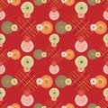 Seamless repeating ethnic pattern from circles and lines