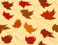 Seamless Repeating Fall Leaf Background Royalty Free Stock Photos