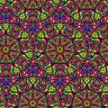 Seamless repeating pattern of mandalas