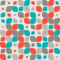 Seamless retro abstract geometric pattern