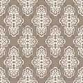 Seamless retro background floral vector pattern Royalty Free Stock Photo