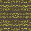 Seamless retro background with gold floral ornament. Vector Royalty Free Stock Photo
