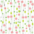 Seamless retro colourfull flower pattern Royalty Free Stock Photography