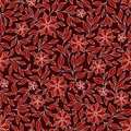 Seamless retro colourfull flower pattern in vector red Stock Photography