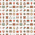 Seamless retro flat business pattern background