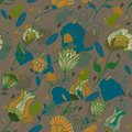 Seamless retro floral pattern Royalty Free Stock Images