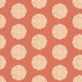 Seamless retro flower pattern tileable background Stock Images
