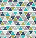 Seamless retro geometric triangle tiles wallpaper Royalty Free Stock Photo
