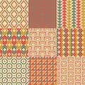 Seamless retro geometric wallpaper Royalty Free Stock Photo