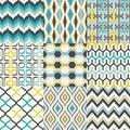 Seamless retro geometric wallpaper pattern Royalty Free Stock Photo